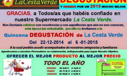 Degustación en La Cesta Verde (hasta el 6 de enero)