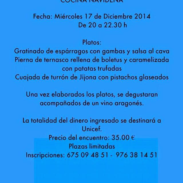 Encuentro gastronómico a favor de Unicef (miércoles, 17)