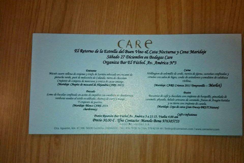 Cata nocturna y cena maridaje a cargo del bar El Fútbol (sábado, 27)