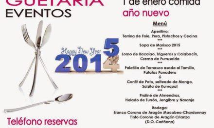 Menú de año nuevo Guetaria Eventos (jueves, 1 de enero)