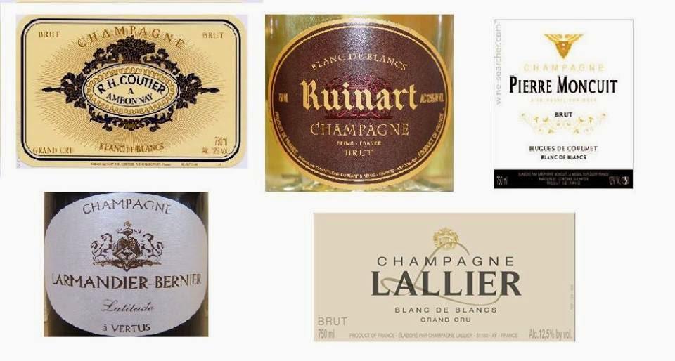 Cata de champagnes blanc de blancs (viernes, 19)