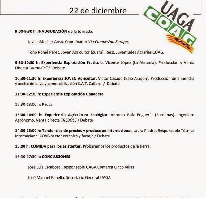 Jornada de agricultura y ganadería (lunes, 22)