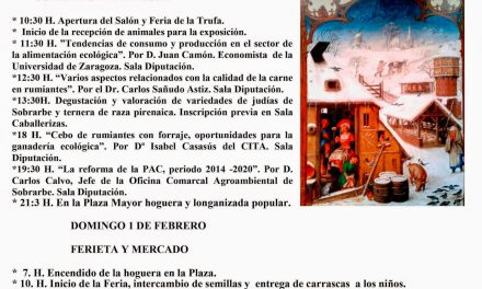 Ferieta de Aínsa (sábado, 31, y domingo, 1)