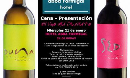 Cena presentación de vino (miércoles, 21)