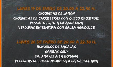 Encuentros gastronómicos Fritos y frituras (lunes, 19 y 26)