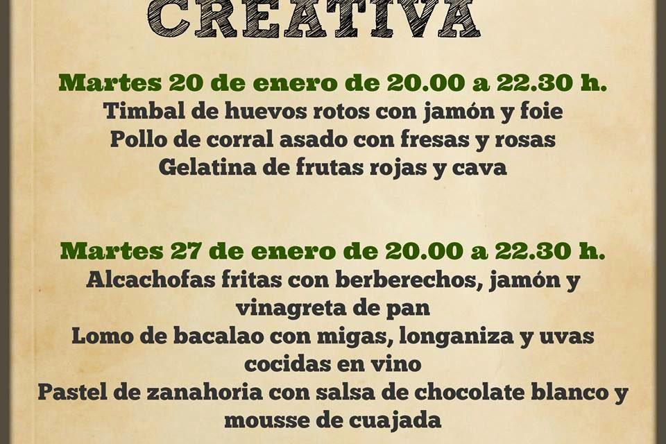 Encuentros gastronómicos Cocina creativa (martes, 20 y 27)
