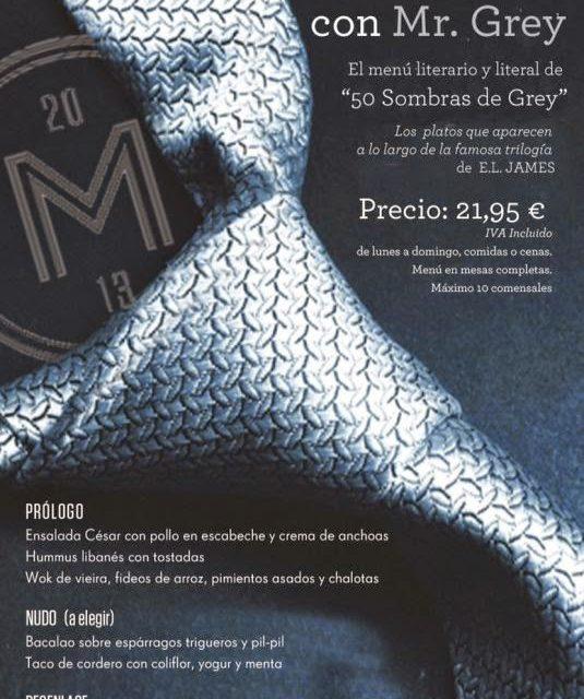 Menú 50 sombras del Grey (del 1 al 24 de febrero)
