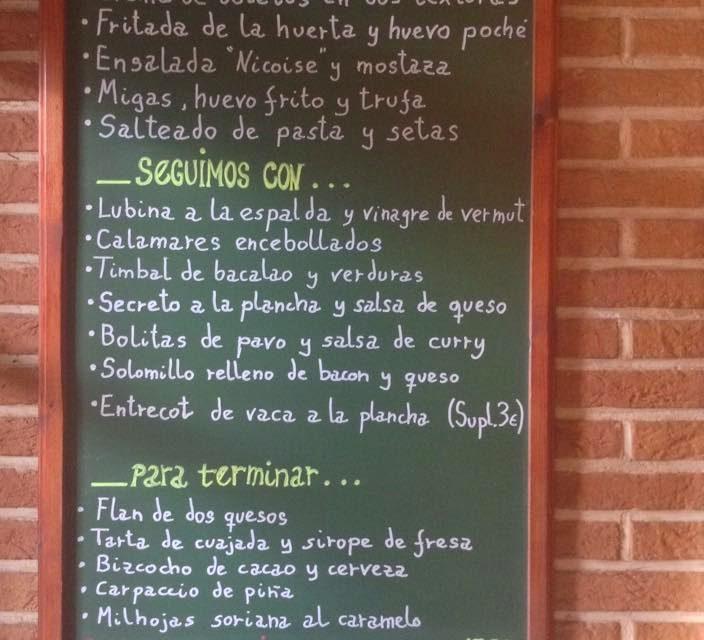 Menú de enero en Maria Morena (hasta el 31 de enero)