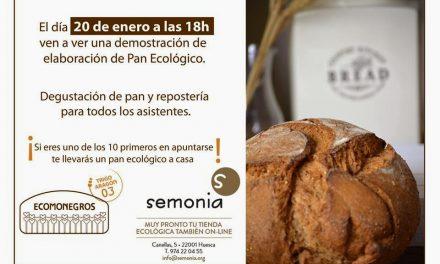 Degustación de pan ecológico