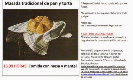 Masada de pan y torta (sábado, 31)