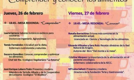 Mesas redondas sobre los alimentos (jueves y viernes, 26 y 27)