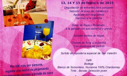 Menú de san  Valentin (del 13 al 15 de febrero)