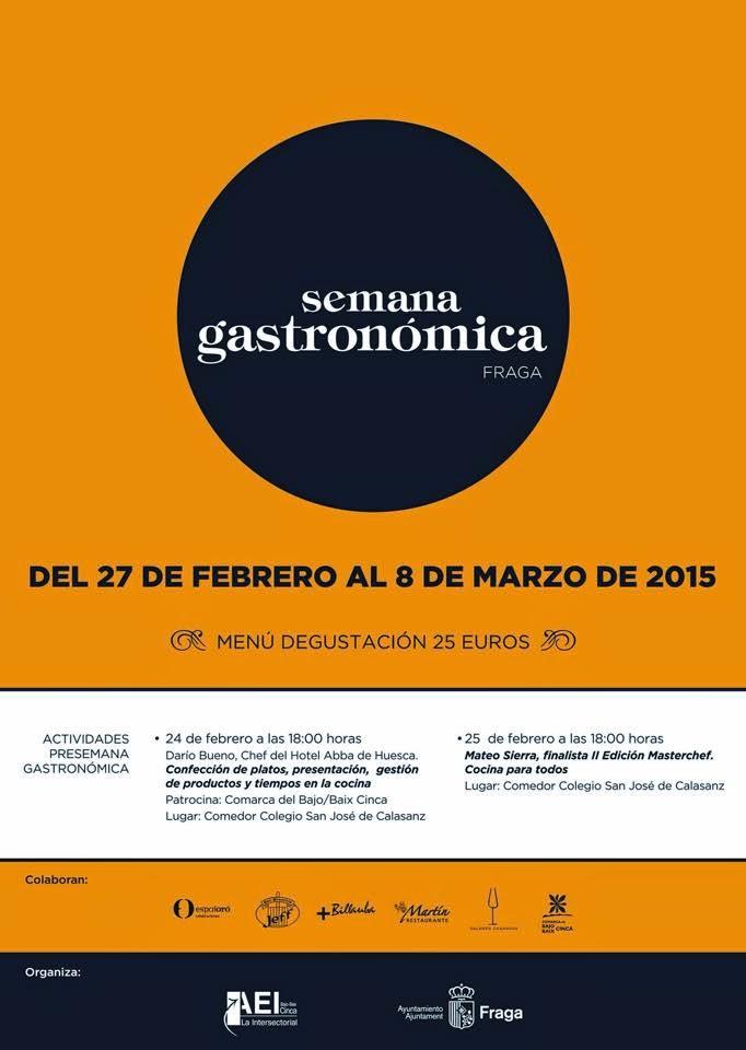 IV Semana Gastronómica Ciudad de Fraga (del 27 de febrero al 8 de marzo)