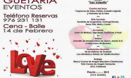 Cena baile de san Valentín Guetaria Eventos (sábado, 14)