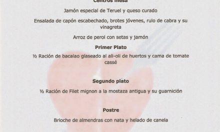 Cena de san Valentín en el Idílico Restaurante (sábado, 14)