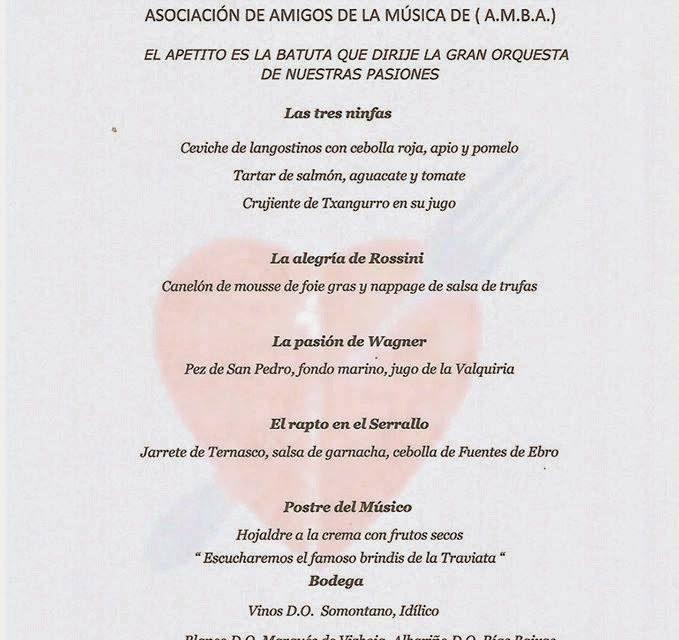 Gala lírica en Idílico restaurante (viernes, 27)