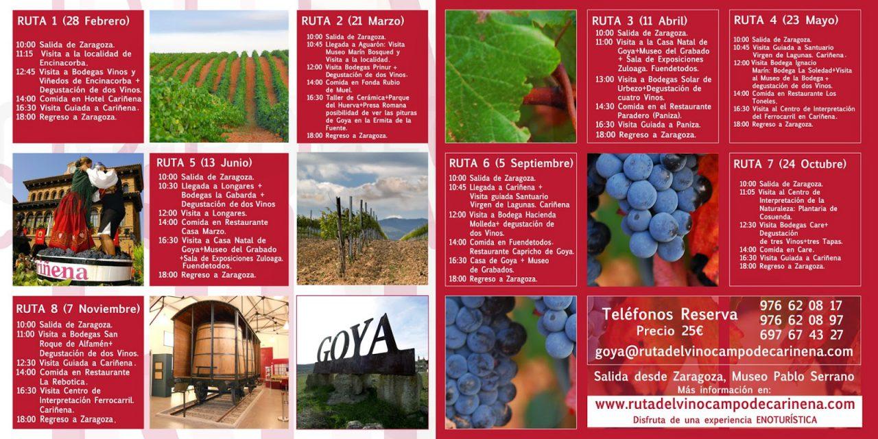 Excursión Ruta del Vino Campo de Cariñena (sábado, 28)