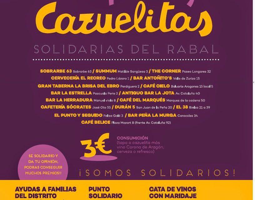 Muestra de tapas y cazuelitas solidarias del Rabal (del 26 de febrero al 8 de marzo)