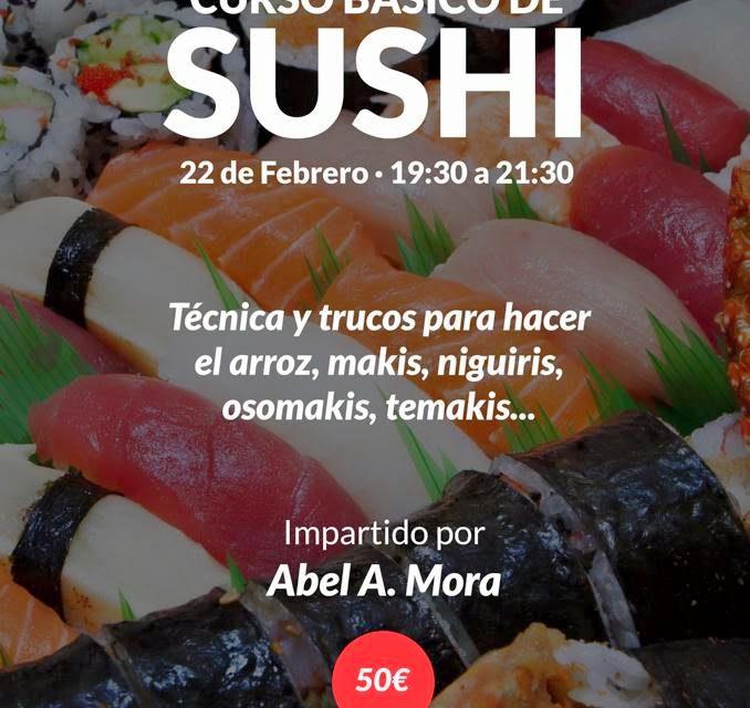 Curso de sushi (domingo, 22)