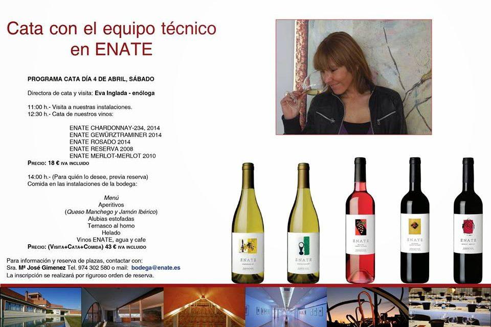 SALAS BAJAS. Cata de vinos de Enate (sábado, 4)