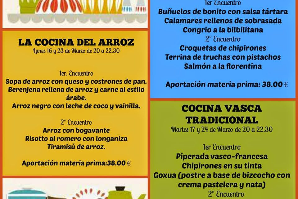 Encuentros gastronómicos Cocina económica con pescados (miércoles, 18 y 25)