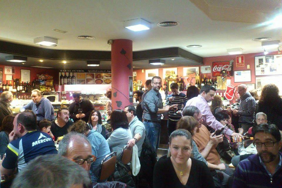 Cata coloquio en el bar El Fútbol (jueves, 12)