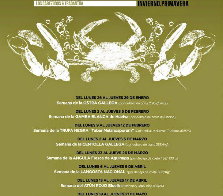 Gourmet Days en Tragantúa y Cabezudos con centolla gallega (del 2 al 5)