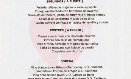 Menú de marzo en el Idílico Restaurante (marzo)