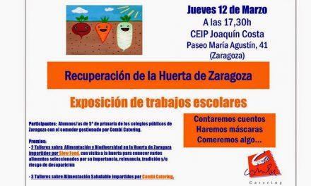 Exposición de trabajos escolares sobre la Huerta de Zaragoza (jueves, 12)