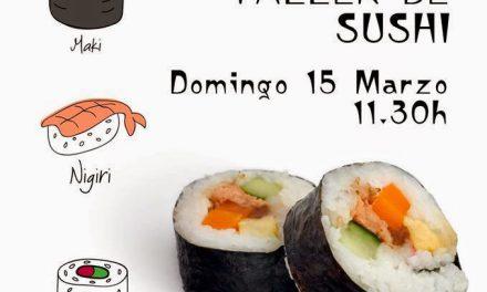 Taller de sushi para jóvenes (domingo, 15)