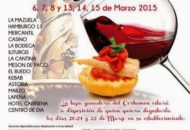 V Certamen de la Tapa y el Vino de Cariñena (del 6 al 8 y del 12 al 15)