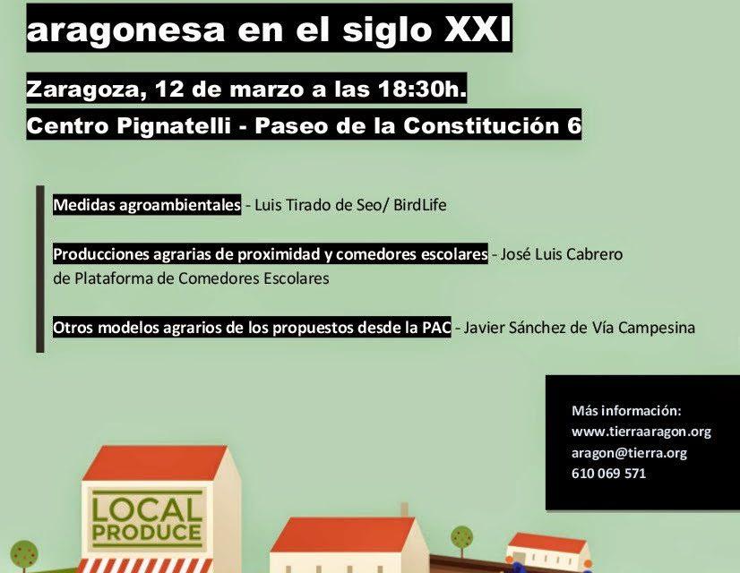Charla Retos de la agricultura aragonesa en el siglo XXI (jueves, 12)