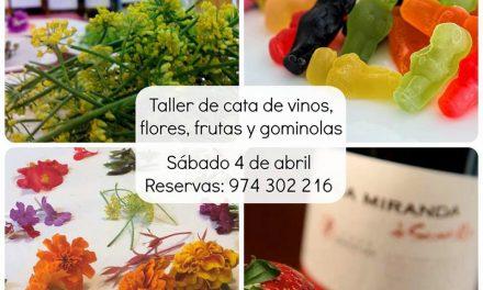 BARBASTRO. Taller de vino, flores, frutas y chuches (sábado, 4)