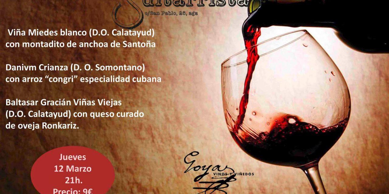 Cata de vino y tapas (jueves, 12)