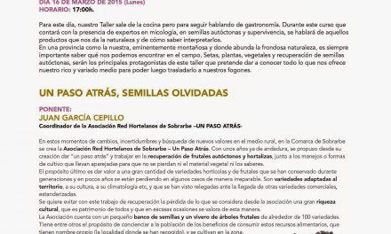 Taller de cocina Productos de Huesca (lunes, 16)
