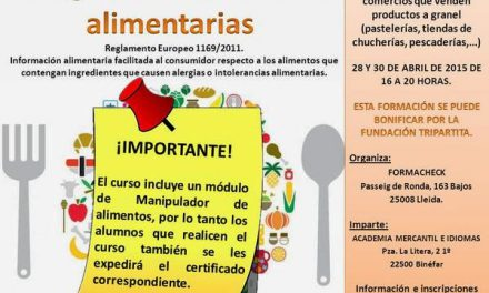 BINÉFAR. Curso de alergias alimentarias (días 28 y 30)