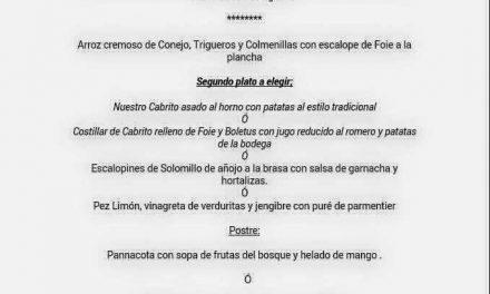 Menú de san Jorge en la Bodega de Chema (jueves, 23)
