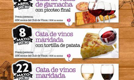 Cata de vinos maridada con tortillas (viernes, 8 de mayo)