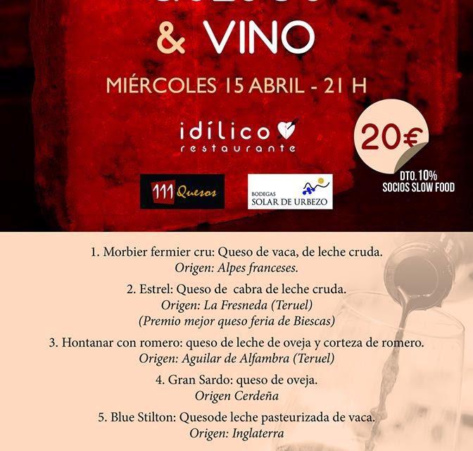 Cata de quesos & vino en Idílico (miércoles, 15)