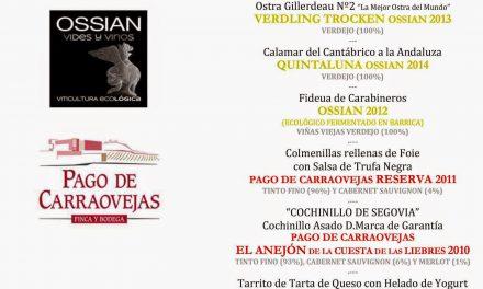 Cata cena maridada en Los Cabezudos con Pago de Carraovejas (miércoles, 15)