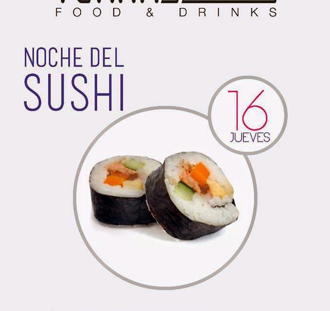 Noche del sushi (jueves, 16)