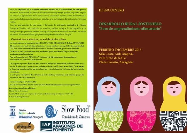 Encuentro sobre desarrollo rural sostenible (miércoles, 22)