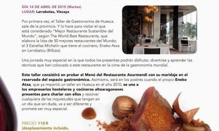 Comida en el restaurante Azurmendi (martes, 14)