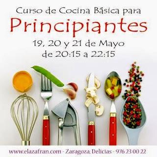 Curso de Cocina básica para principiantes (de martes a jueves, días 19 a 21 de mayo)