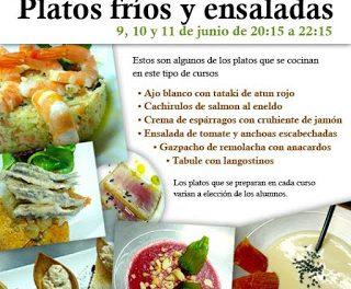 Curso de cocina Platos fríos y ensaladas (de martes a jueves, días 9 a 11 de junio)