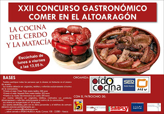 Concurso gastronómico Comer en el Altoaragón (hasta el 18 de junio)