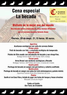 Cena de la becada en El Candelas (viernes, 29)