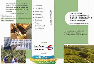 Jornada. Un nuevo asesoramiento agroalimentario para Aragón (miércoles, 3)
