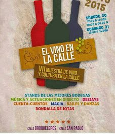 VII Muestra de la cultura del vino (días 30 y 31, sábado y domingo)