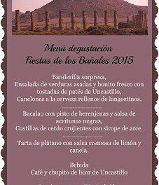 UNCASTILLO. Menú degustación en Uncastello (días 30 y 31)